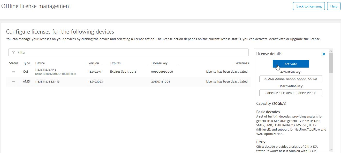 offline license activation
