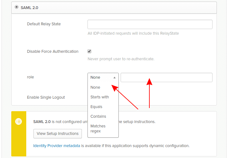 Okta configure Security Group Claim attribute