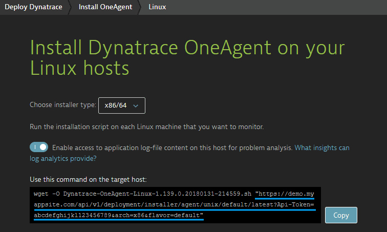 Deploy Dynatrace OneAgent as a Docker container | Dynatrace Help