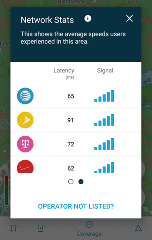 Latency figures in OpenSignal