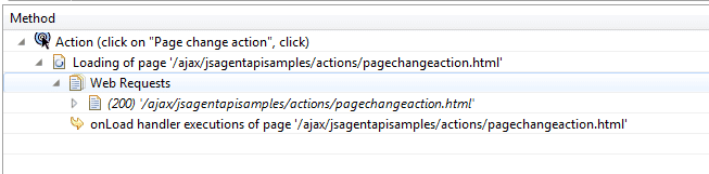 Page change action