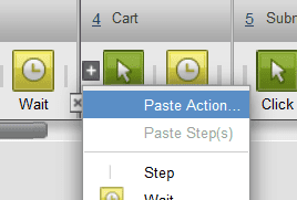 Paste an action