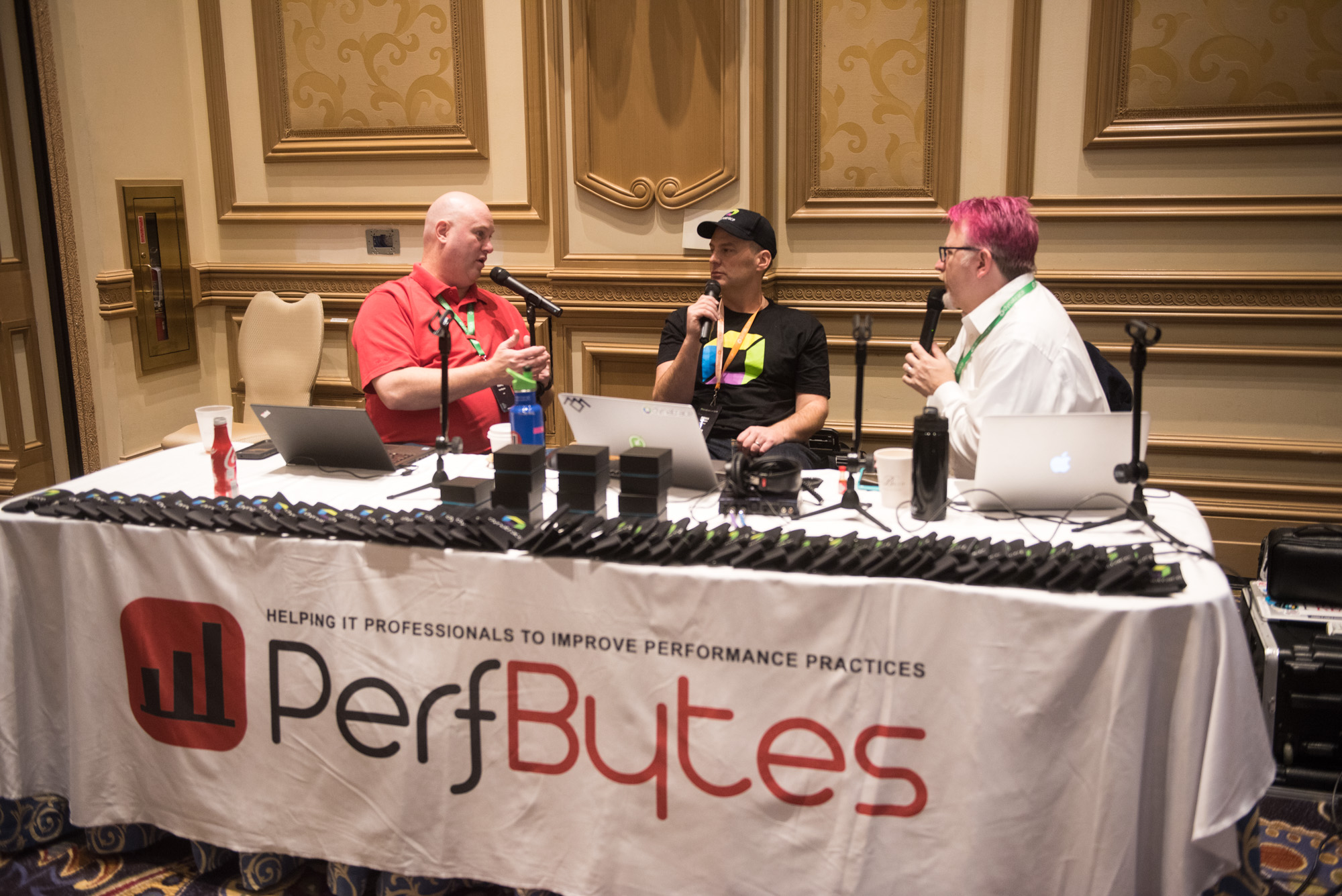 PerfBytes podcast live studio at perform 2018 Las Vegas