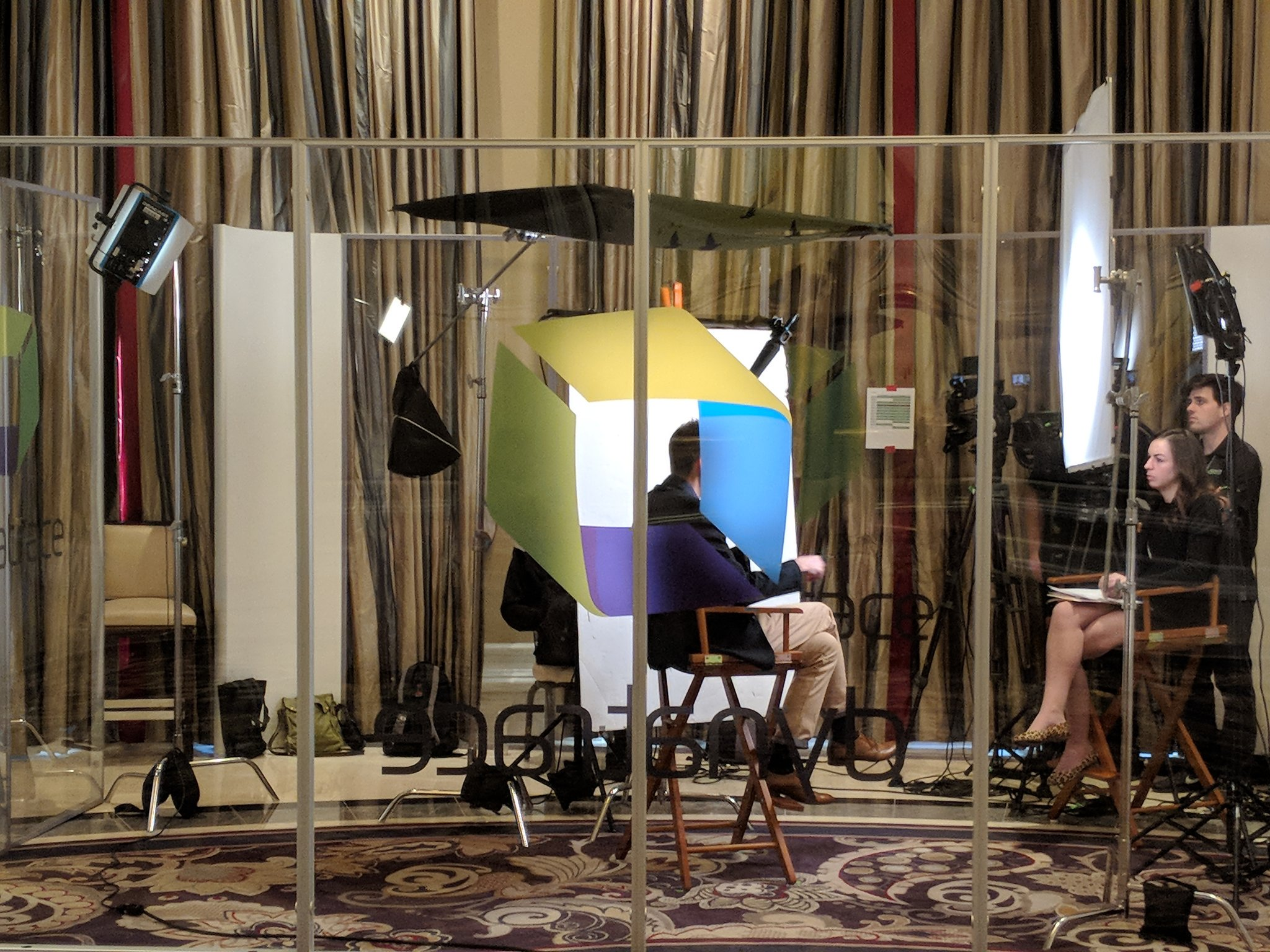 Interview booth in the lounge