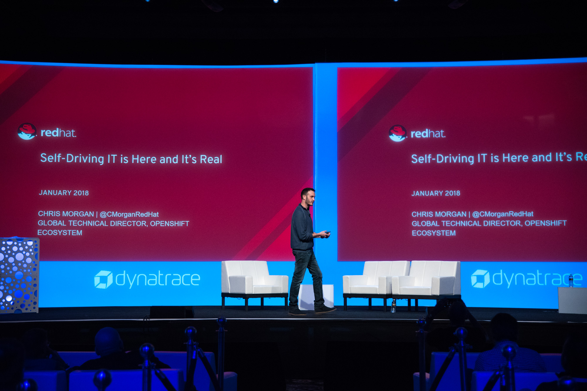 Redhat presenting on the main stage at perform 2018