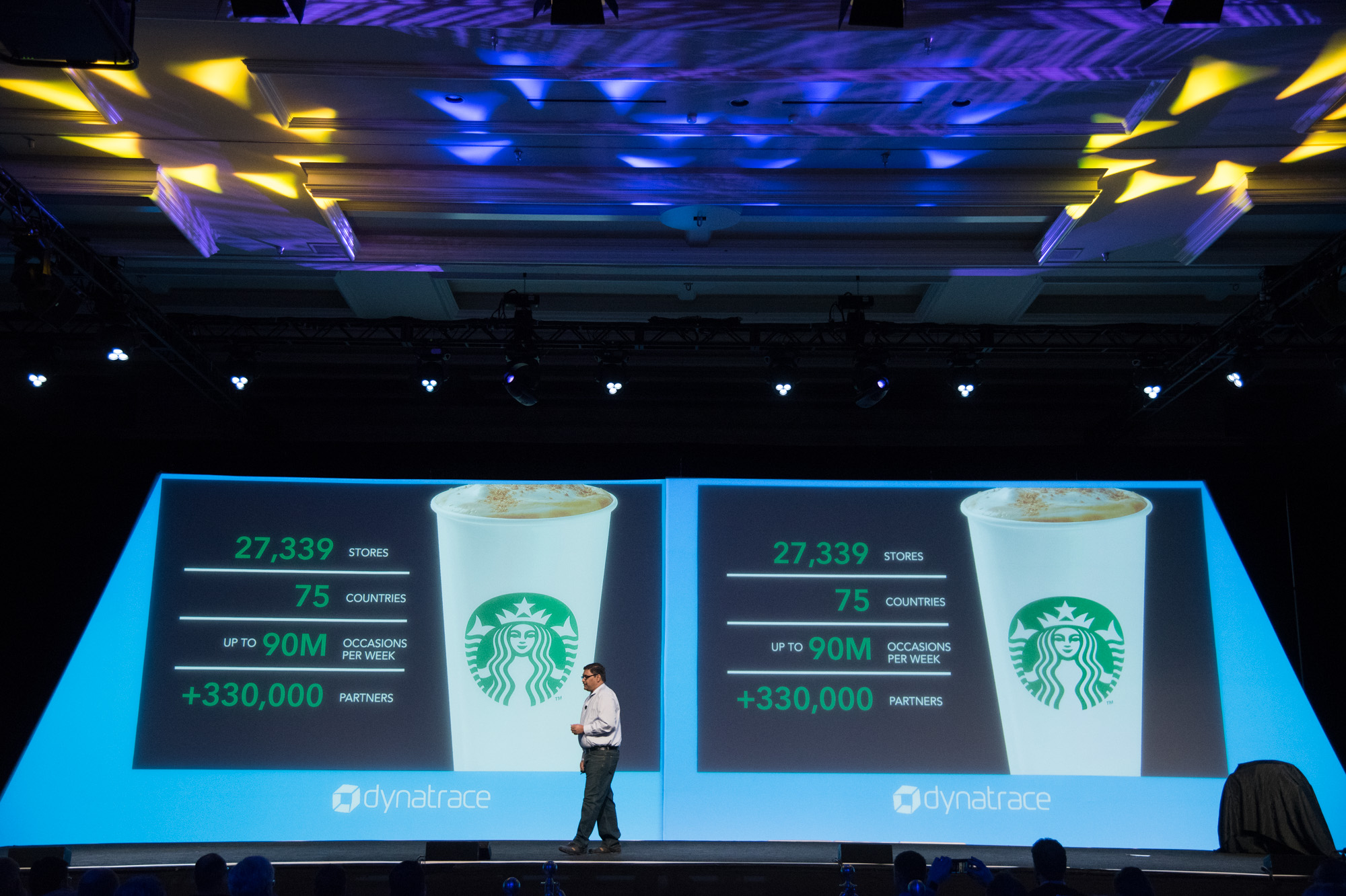 Main stage presentation by starbucks representative