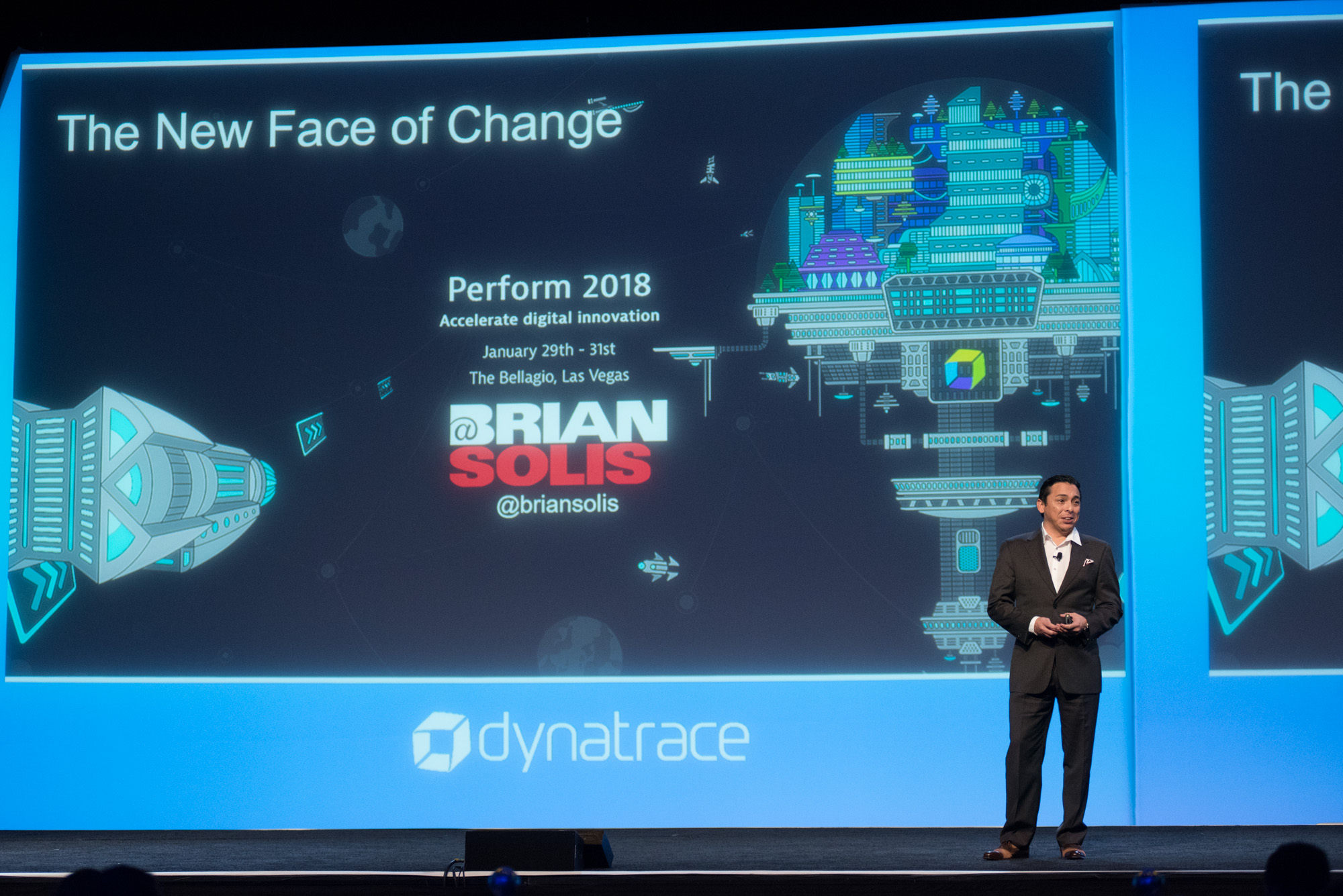 Brian Solis presenting at perform 2018 main stage