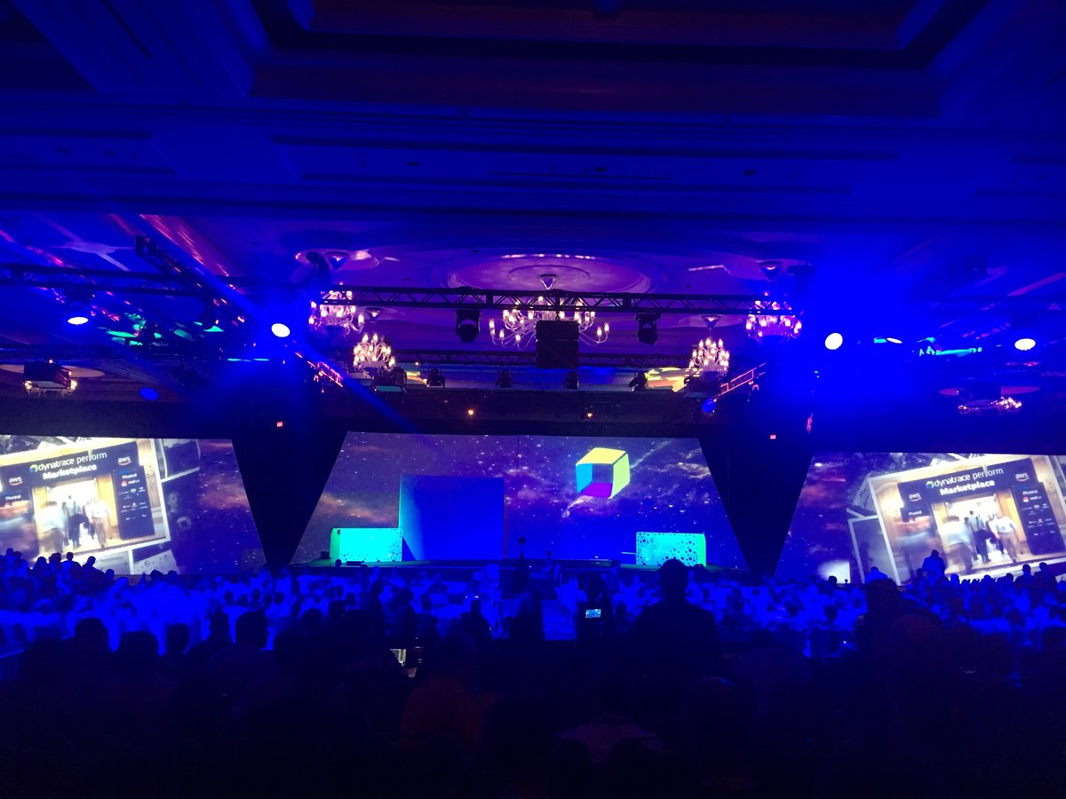 Main room at perform displaying amazing visuals