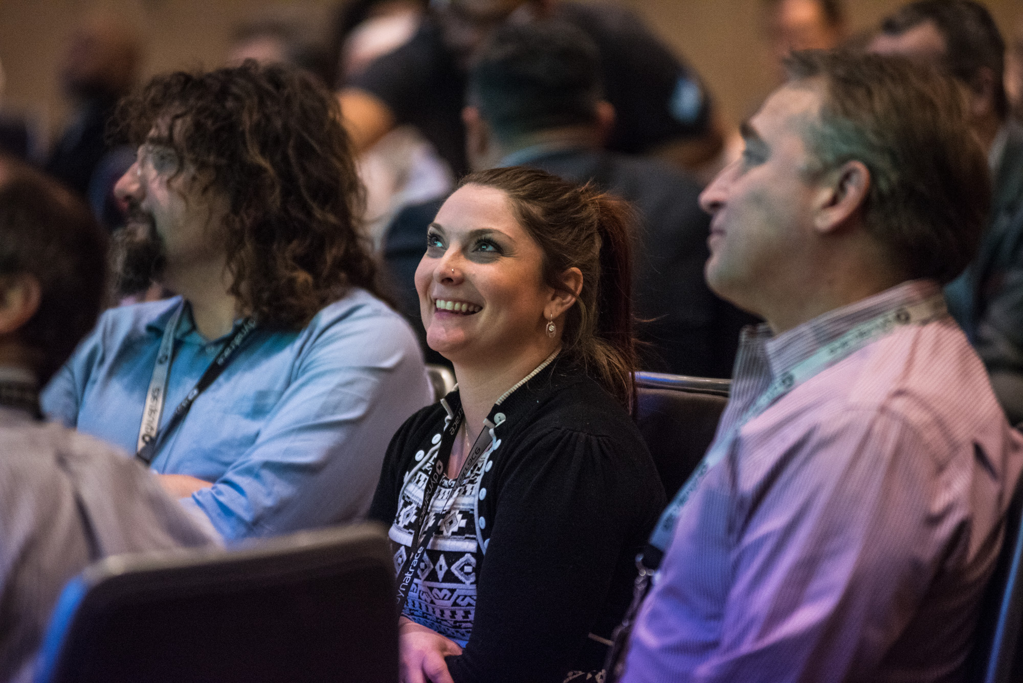 Audience enjoying the talks at perform 2018
