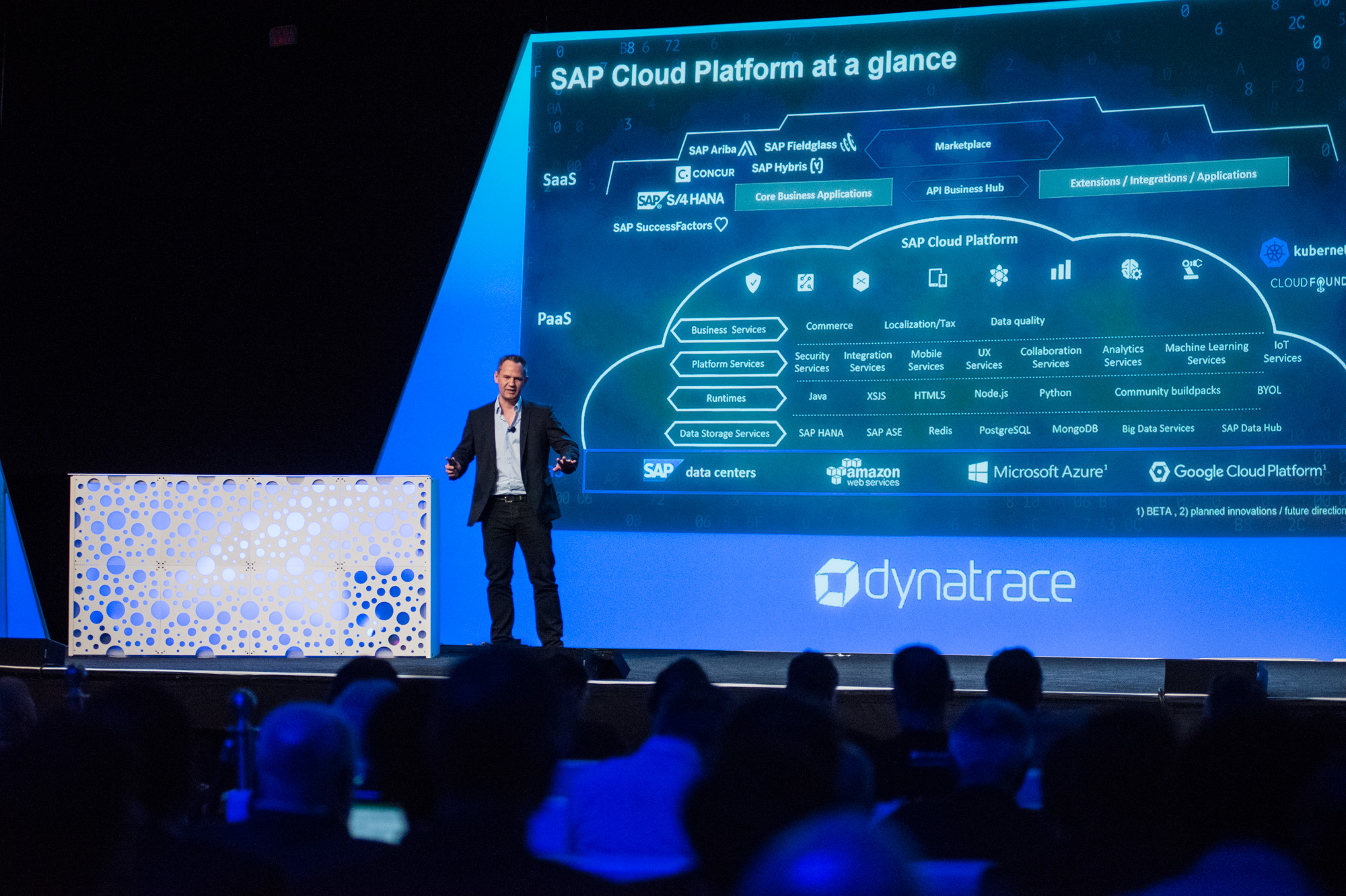 SAP Cloud platform at perform 2018 main stage