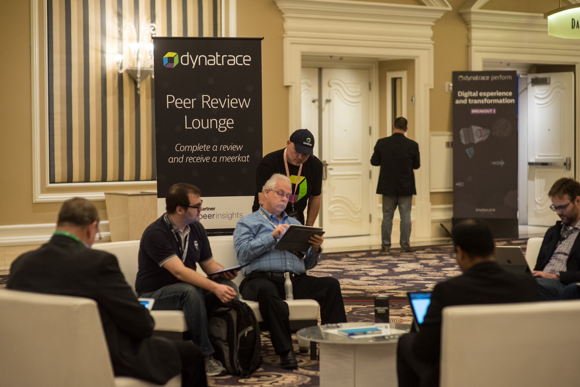 Peer review lounge between sessions