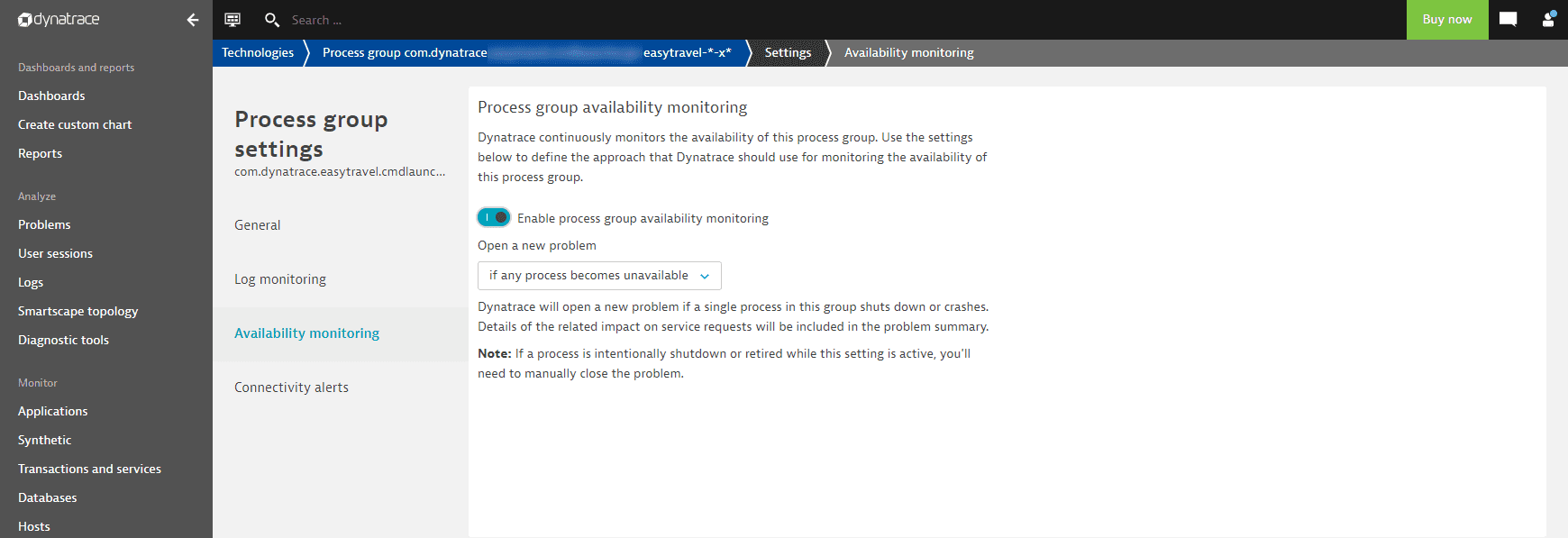 any process unavailable