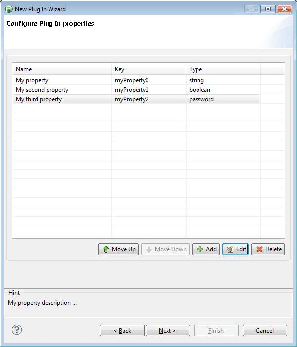 Configure Plugin Properties