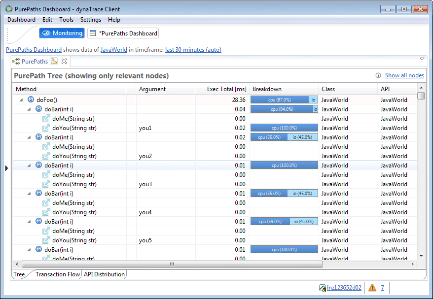 Screenshot 8: PurePath view of external API service calls