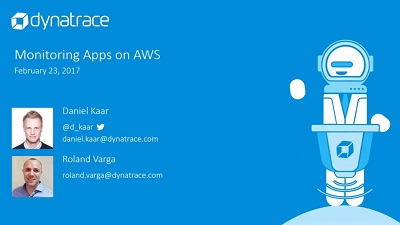 Watch this replay to learn more about how Dynatrace monitors apps on AWS.