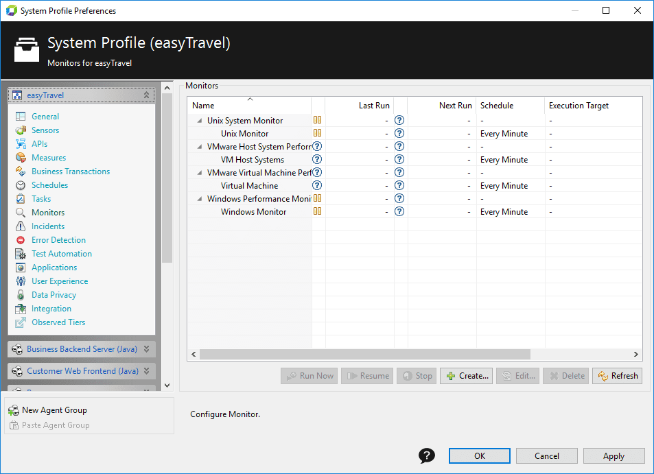 System Profile - Monitors