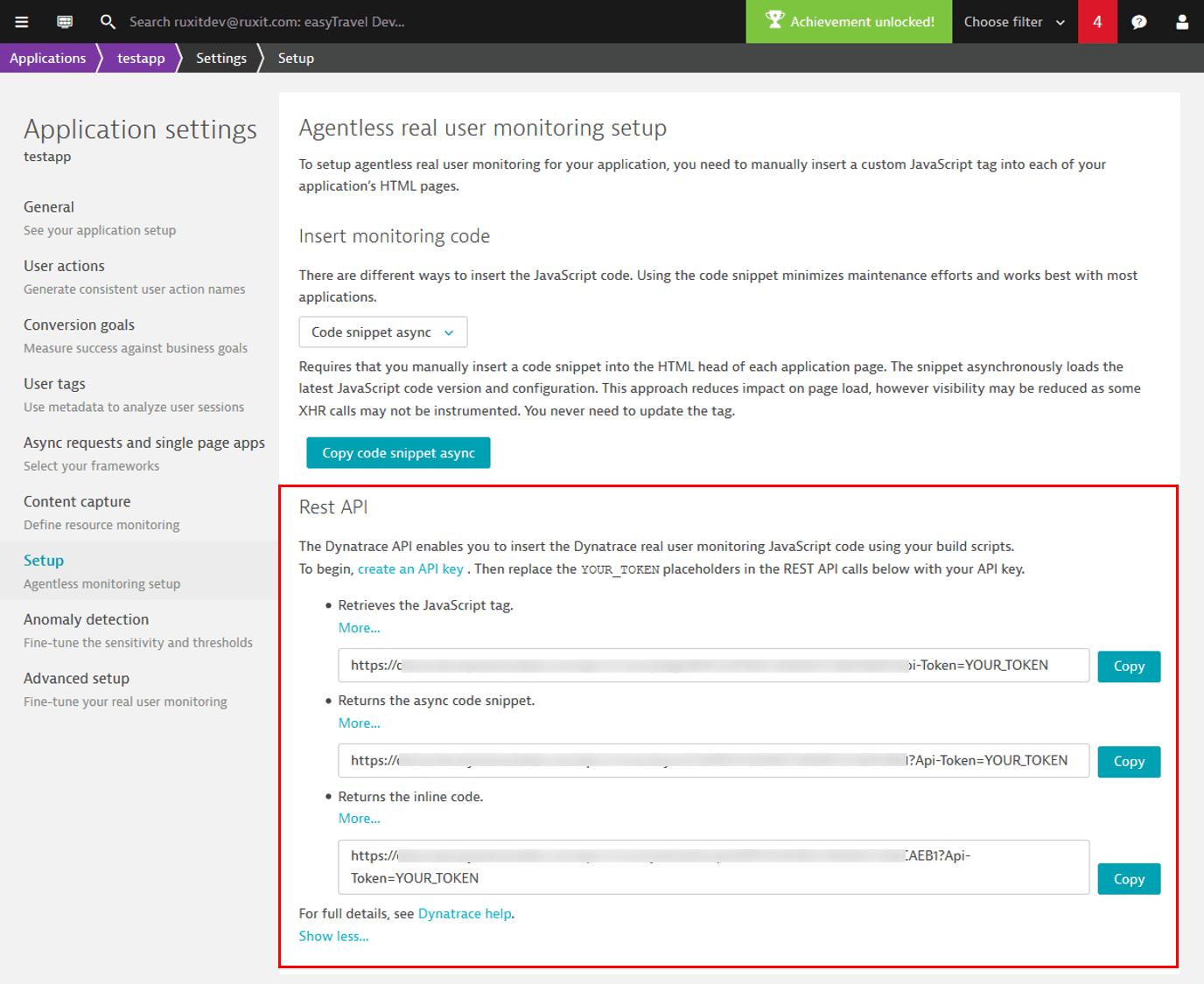 Rest API approach