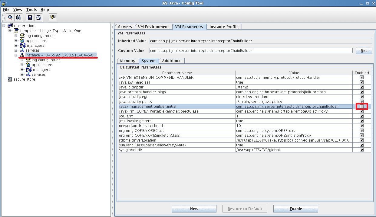 Step 1: Disable javax.management.builder.initial