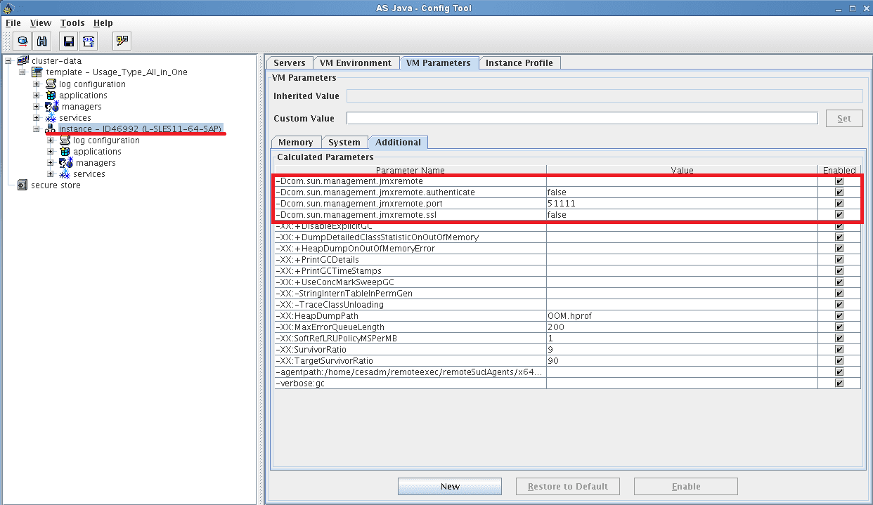 Step 2: Configure JMX properties