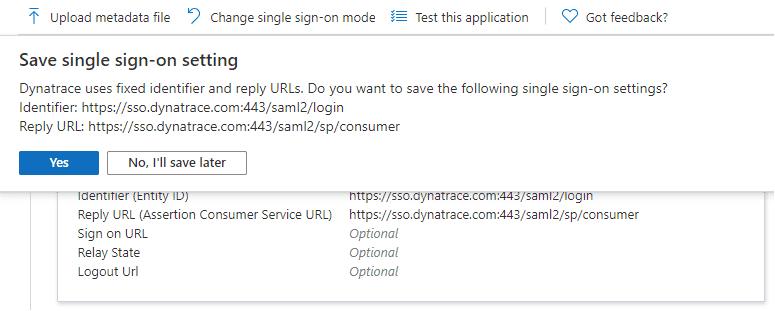 Save default initial configuration