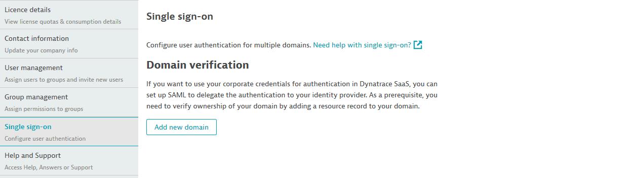 SAML: domain: start
