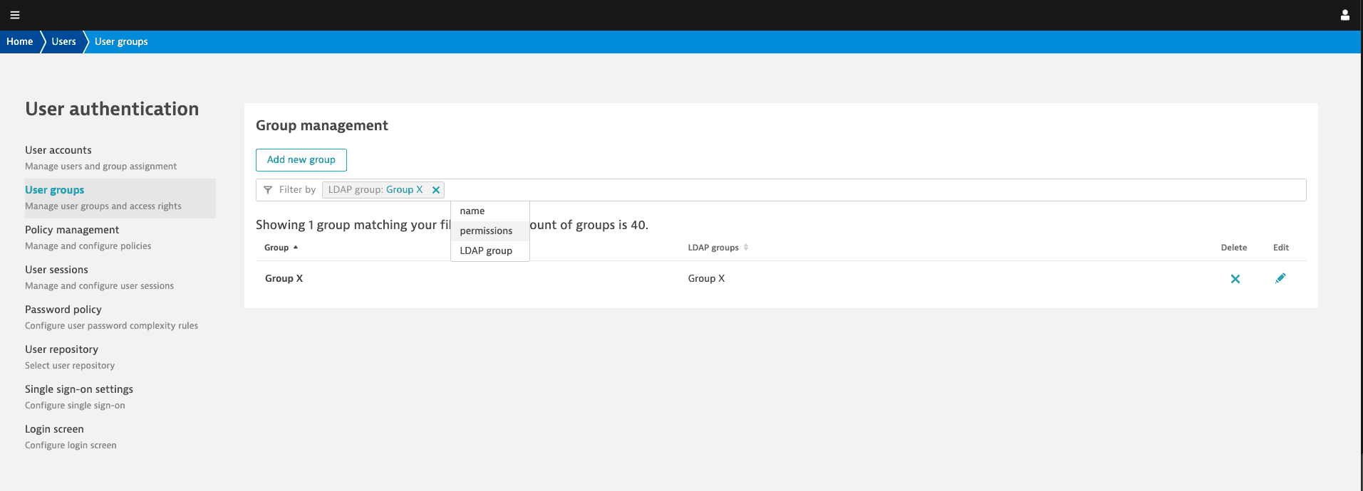 advanced filtering for groups overview