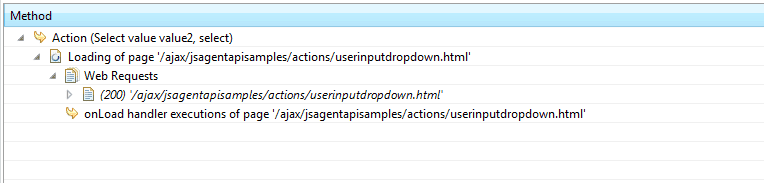 User Action with override