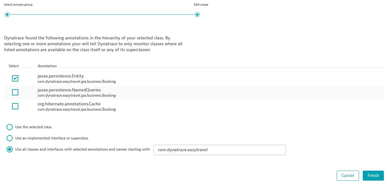 Define custom Java services | Dynatrace Help