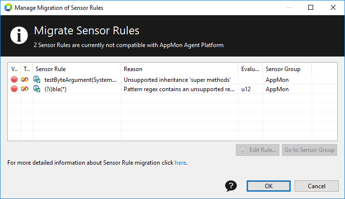 Sensor rules migration | AppMon documentation