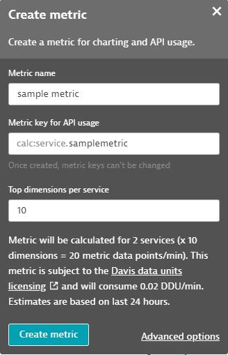 Create calculated metric
