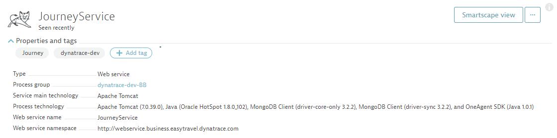 Web service details