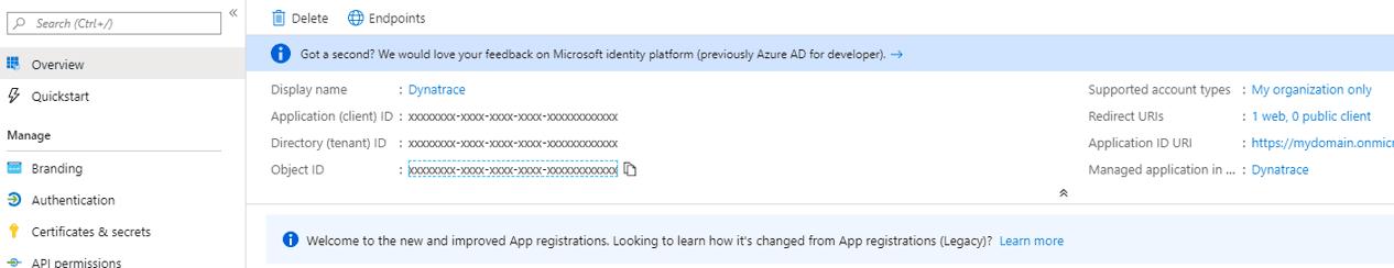 Configure Azure Monitor - service principal