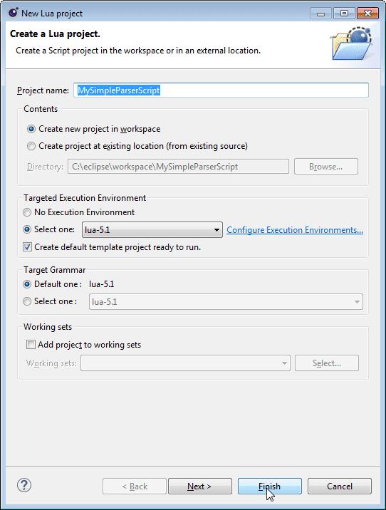 Simple parser Eclipse