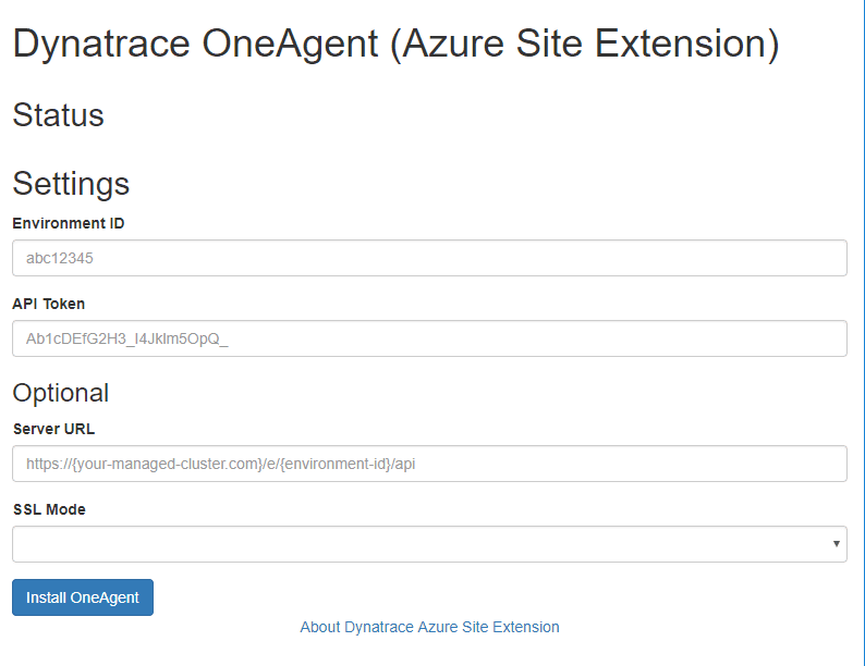 Configure Azure Site-Extension