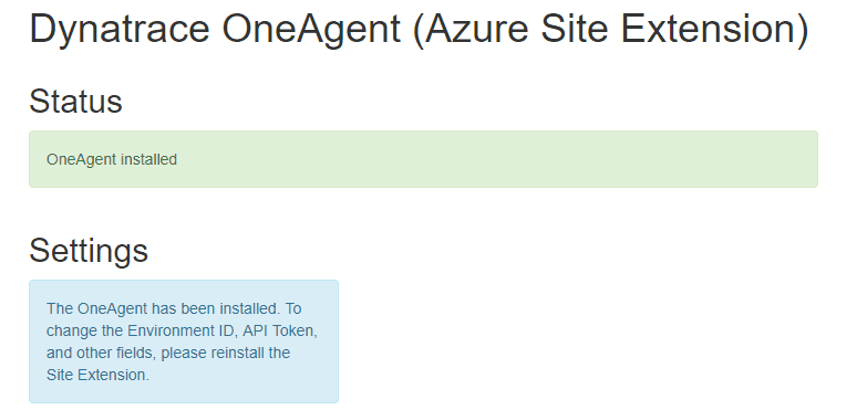 Azure Site-Extension Status