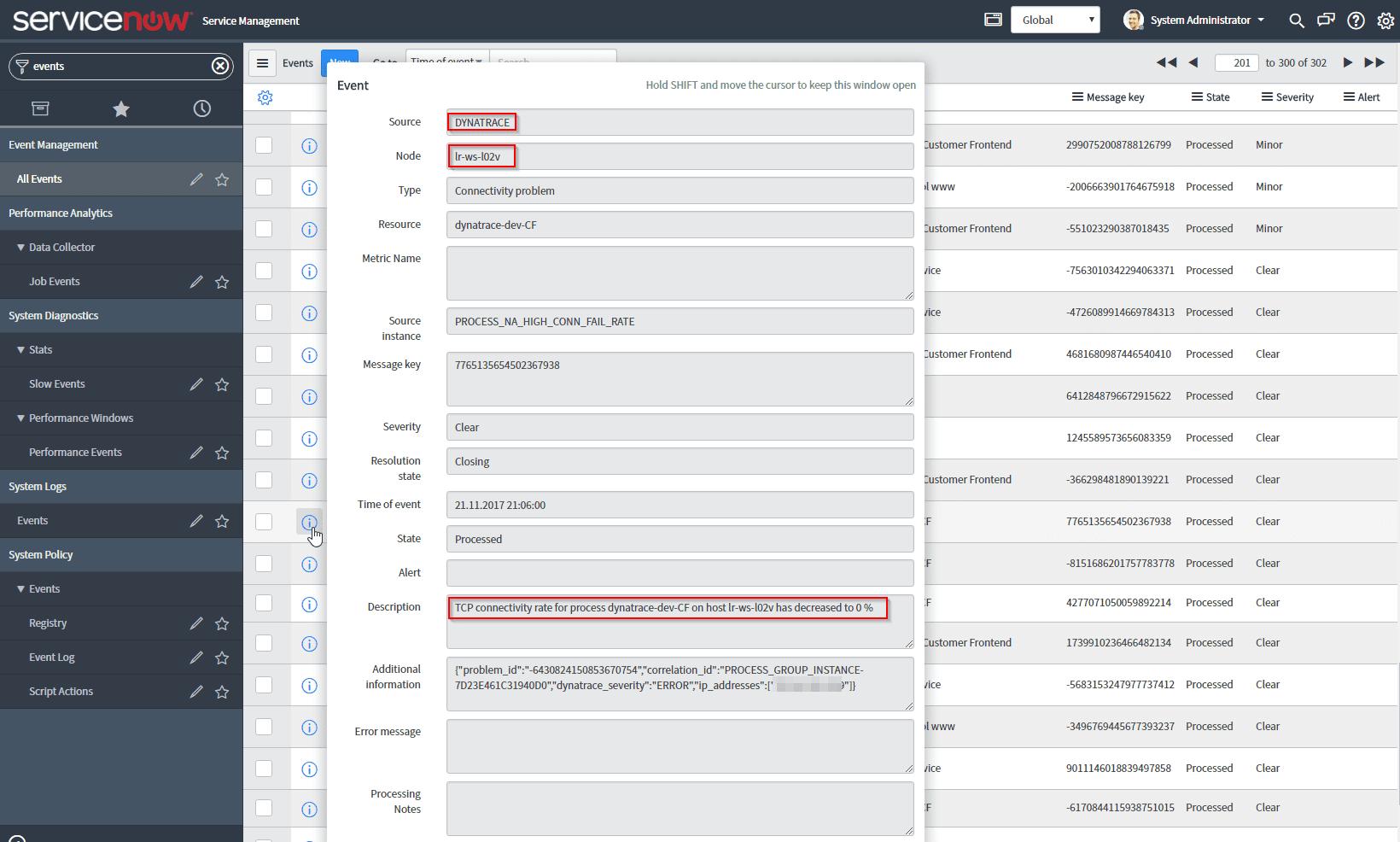 ServiceNow integration | Dynatrace Help