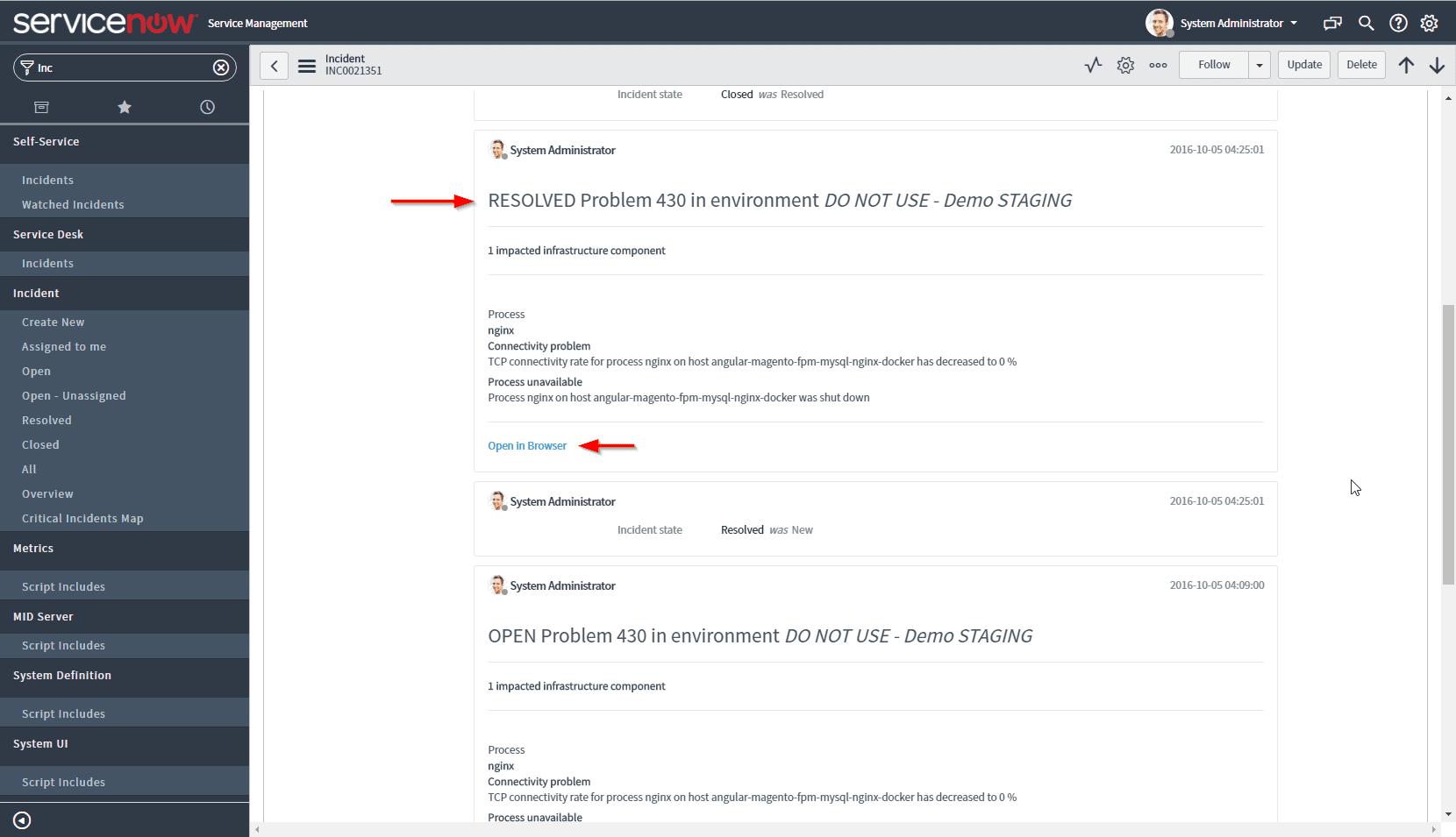 ServiceNow integration   Dynatrace Help