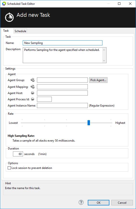 Sampling Task Configuration