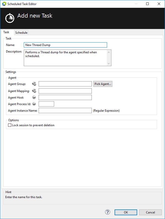 Thread Dump Task Configuration