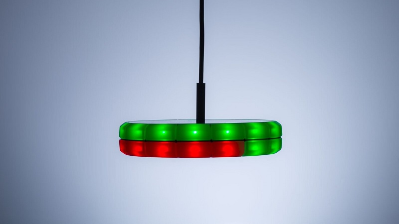 Use the REST API to control the LEDs to e.g. show the severity or impact by more or fewer red LEDs.