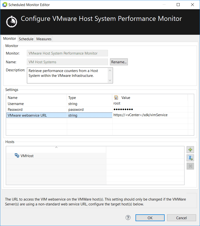 VMware host system performance monitor