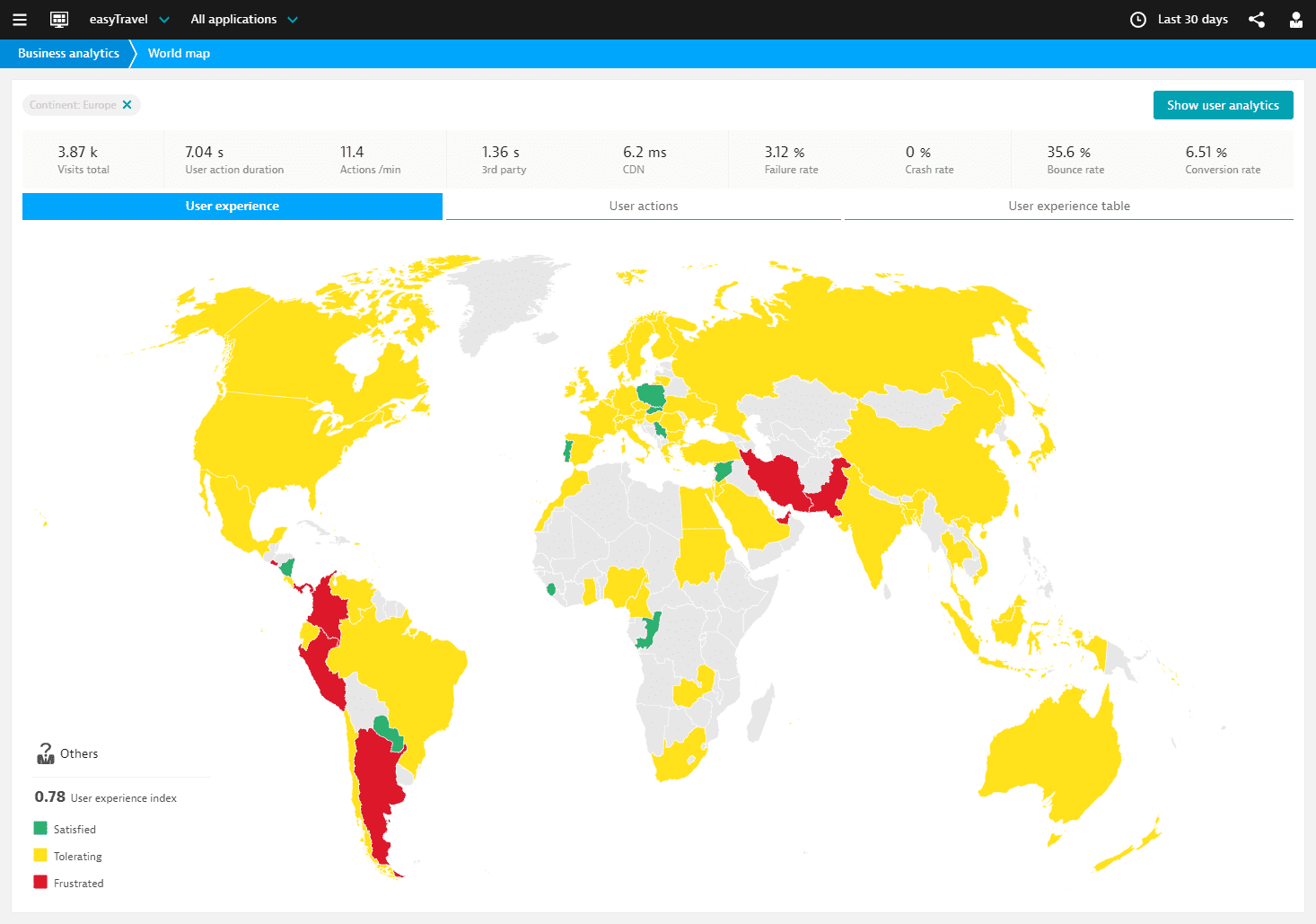 World Map web view