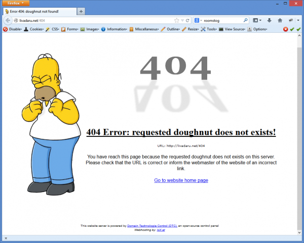The 404 Error Message delivered from Livadaru.net might be funny to look at, but the potential impact on your users is nothing to laugh about! See more funny examples at http://www.1stwebdesigner.com/inspiration/unique-404-error-pages-inspiration/