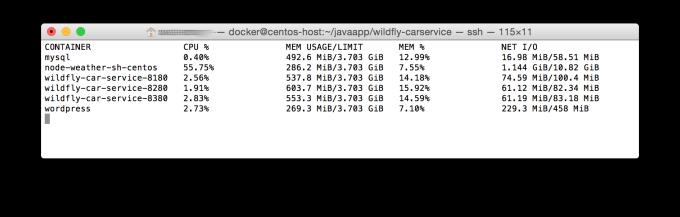 Docker Stats data