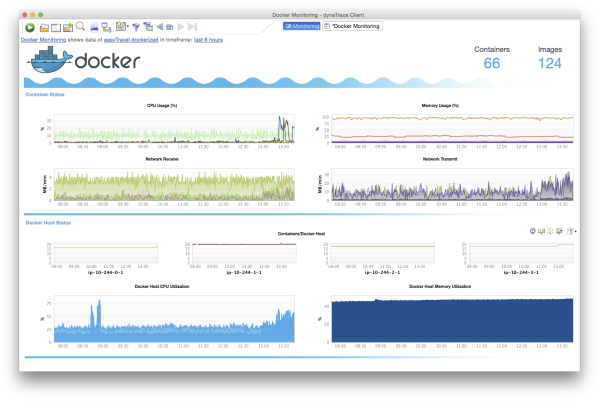 The Dynatrace Docker Monitoring Dashboard