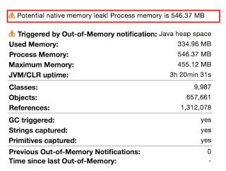 memory-leak-alert