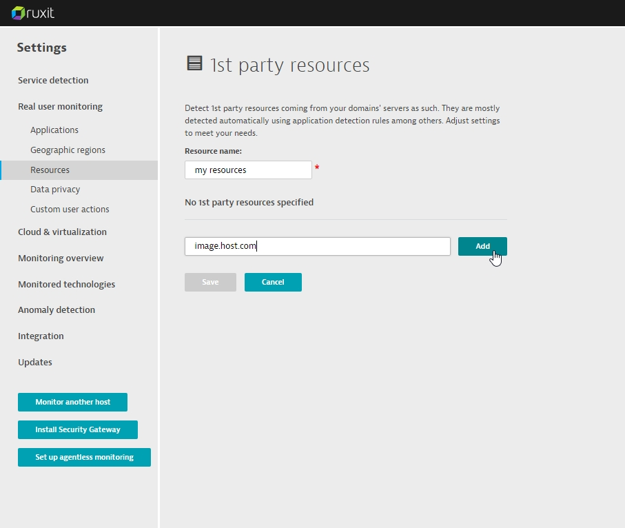 1st party resource configuration