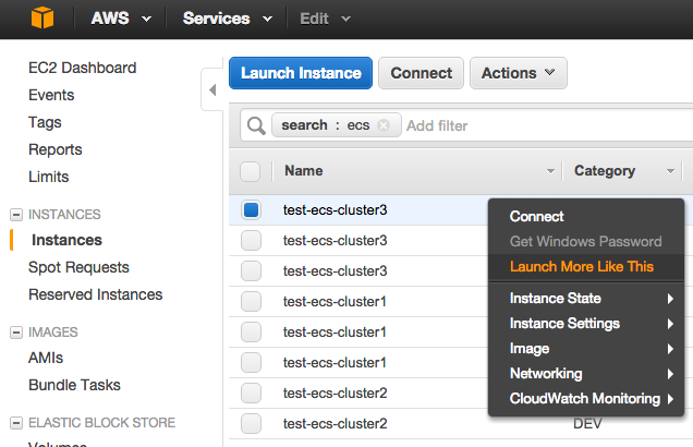 Launch new EC2 instance like this