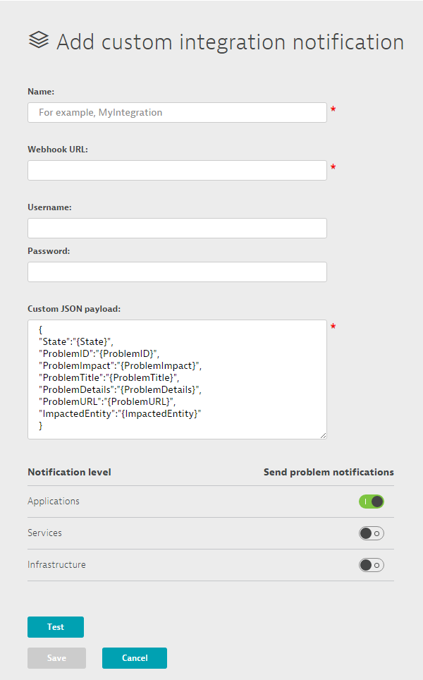 Integrate Dynatrace notifications into 3rd party systems