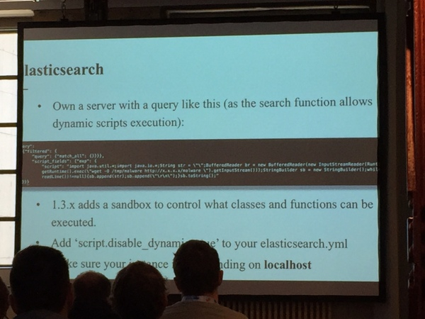Own a server with an Elasticsearch query